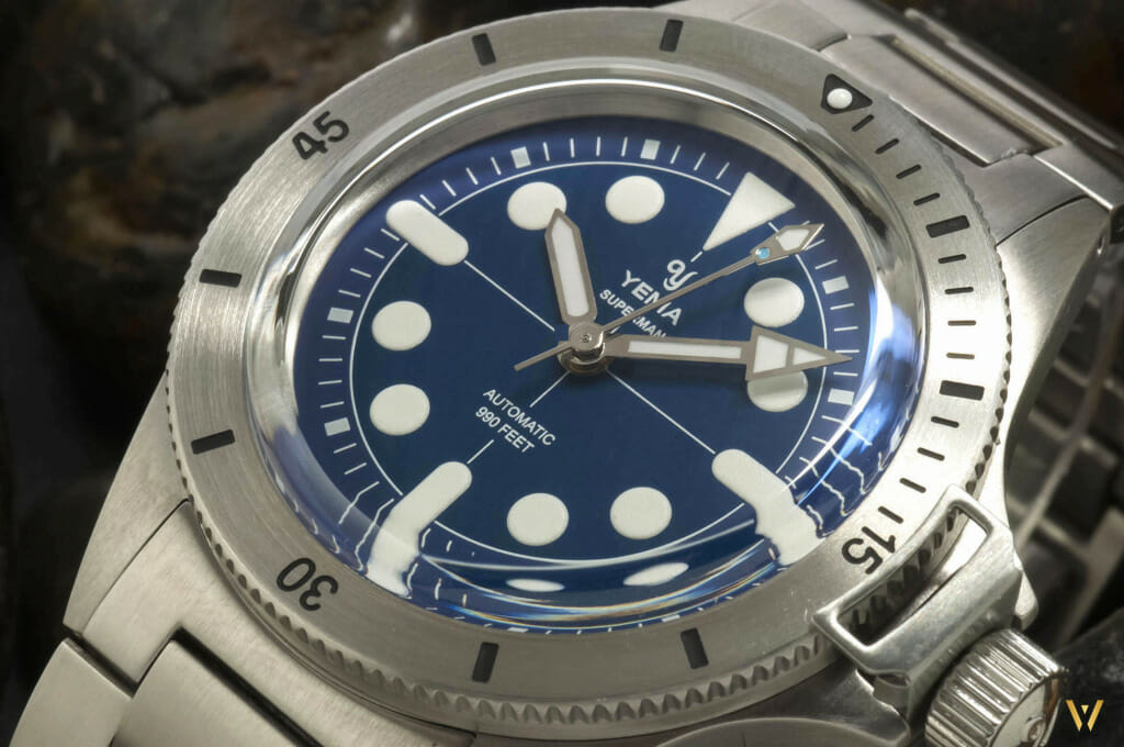 Montre Made in France - Yema Superman Maxi Dial Blue
