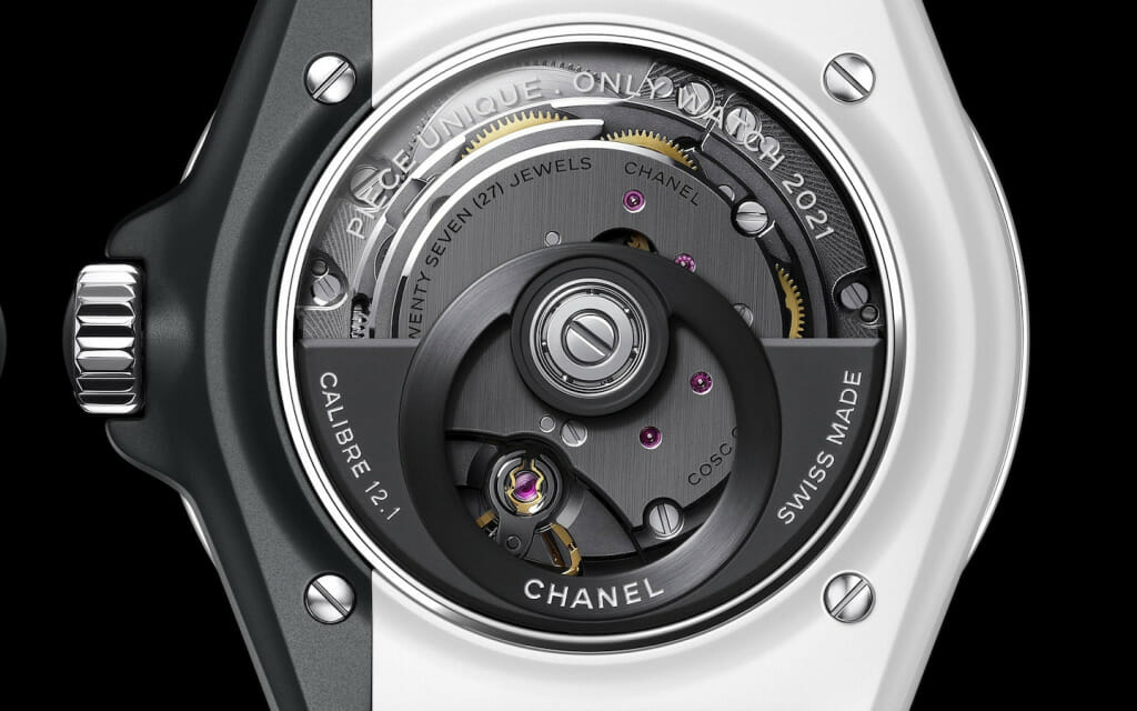 Fond saphir - montre Chanel J12 Paradoxe Only 2
